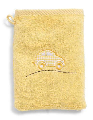 Bob Der Bar Gingham Car Cotton Towel Mitt-YELLOW-Finger Tip Towel