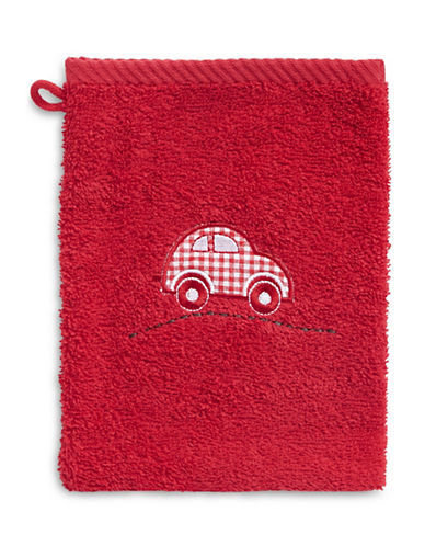 Bob Der Bar Gingham Car Cotton Towel Mitt-RED-Finger Tip Towel