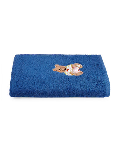 Bob Der Bar Bear Cotton Square Bath Towel-BLUE-Bath Towel