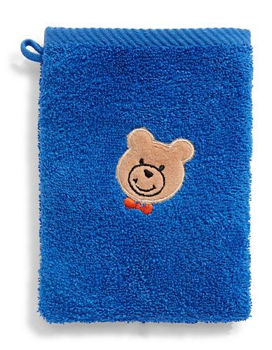 Bob Der Bar Bow Tie Bear Cotton Towel Mitt-BLUE-Finger Tip Towel