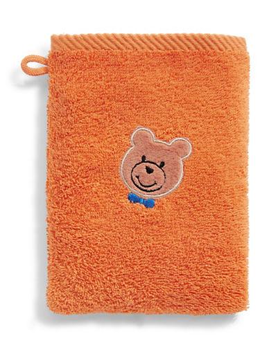 Bob Der Bar Bow Tie Bear Cotton Towel Mitt-ORANGE-Finger Tip Towel