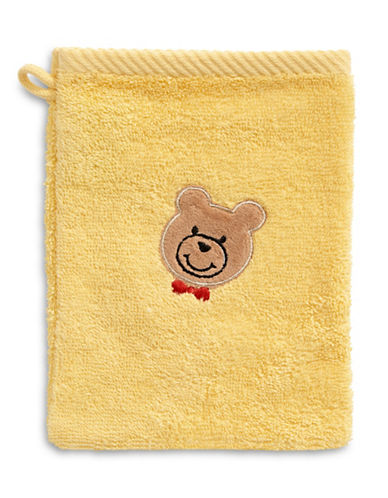 Bob Der Bar Bow Tie Bear Cotton Towel Mitt-YELLOW-Finger Tip Towel