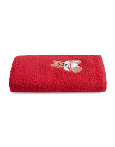Bob Der Bar Bear Cotton Square Bath Towel-RED-Bath Towel
