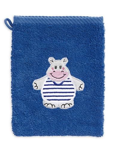 Bob Der Bar Hippo Cotton Mitt Towel-BLUE-Finger Tip Towel