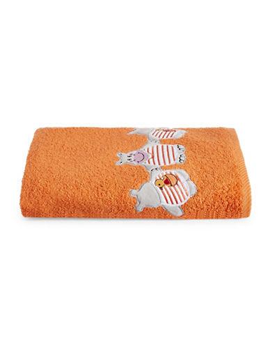Bob Der Bar Hippo Cotton Square Bath Towel-ORANGE-Bath Towel