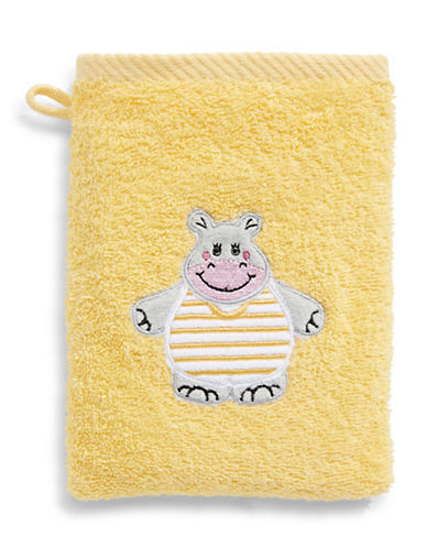 Bob Der Bar Hippo Cotton Mitt Towel-YELLOW-Finger Tip Towel