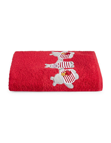 Bob Der Bar Hippo Cotton Square Bath Towel-RED-Bath Towel