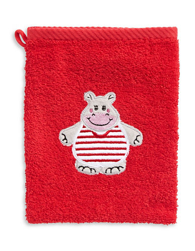 Bob Der Bar Hippo Cotton Mitt Towel-RED-Finger Tip Towel