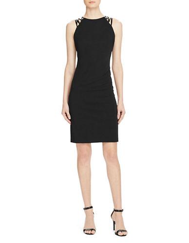 Lauren Ralph Lauren Crisscross-Strap Jersey Dress-GREY-8