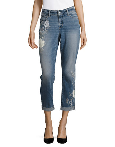 Nydj Jessica Relaxed Boyfriend Embroidered Jeans-BLUE-10