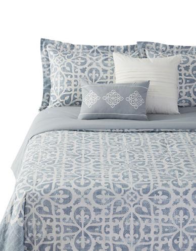 Home Studio Jasmine Five-Piece Comforter Set-BLUE-Queen