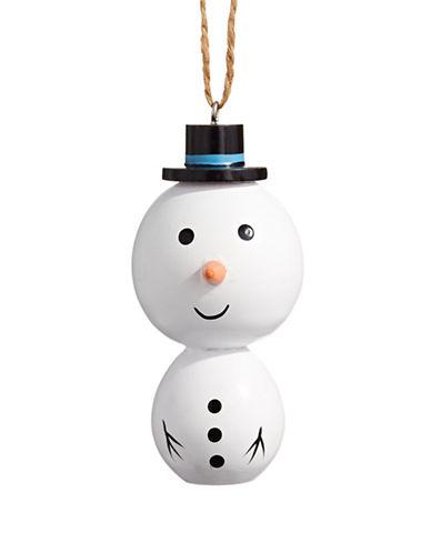 Christmas Street Winter Chalet Wood Snowman Ornament-MULTI-One Size