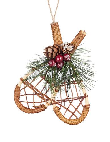 Glucksteinhome Aspen Charm Wicker Snoweshoes Ornament-NATURAL-One Size