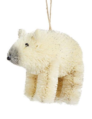 Glucksteinhome Aspen Charm Bristle Polar Bear Ornament-WHITE-One Size