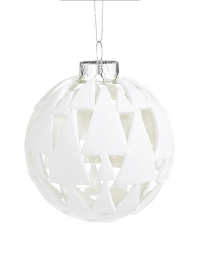 Glucksteinhome Noel Blanc Clay-Applique Ornament-WHITE-One Size