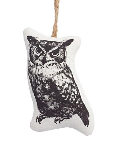 Glucksteinhome Noel Blanc Canvas Owl Ornament-WHITE-One Size
