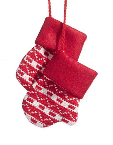 Glucksteinhome Aspen Charm Knit Mittens Ornament-RED-One Size