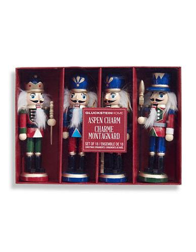 Glucksteinhome Aspen Charm Set of Four Nutcracker Ornaments-ASSORTED-One Size