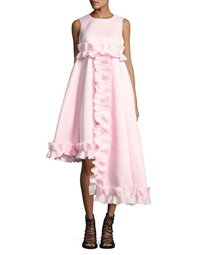 Paskal Ruffled Fit-And-Flare Dress-PINK-X-Small