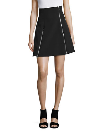 Jeremy Scott Zip Detail A-Line Skirt-BLACK-42