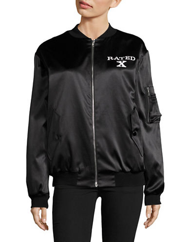 Jeremy Scott Lightweight Bomber Jacket-BLACK-44