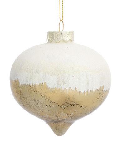 Glucksteinhome Aspen Charm Glitter Ornament-GOLD-One Size