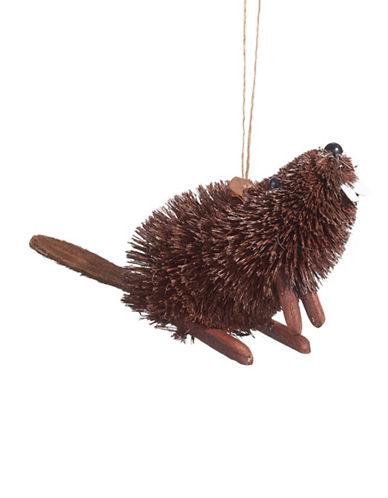 Glucksteinhome Aspen Charm Bristle Beaver Ornament-BROWN-One Size