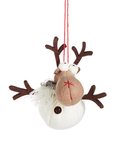 Christmas Street Winter Chalet Soft Moose Ornament-MULTI-One Size