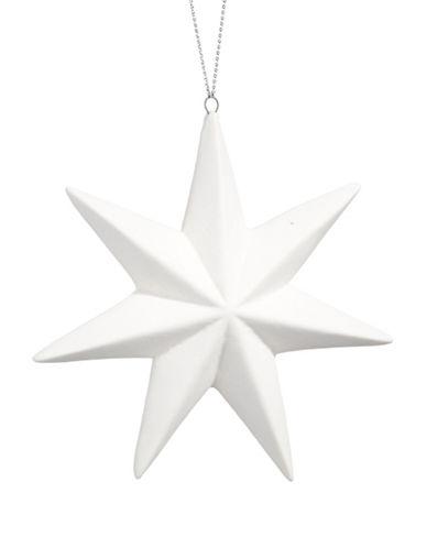 Glucksteinhome Noel Blanc Seven Point Star Ornament-WHITE-One Size