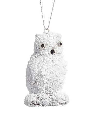Glucksteinhome Noel Blanc Snowy Owl Ornament-WHITE-One Size 89070016_WHITE_One Size