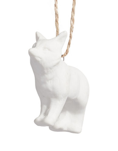Glucksteinhome Aspen Charm Small Fox Ornament-WHITE-One Size