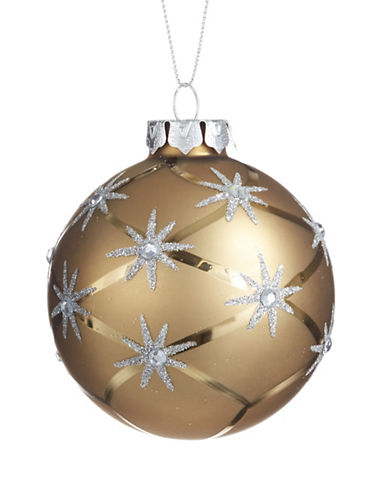 Glucksteinhome Noel Blanc Star Christmas Ball-GOLD-One Size