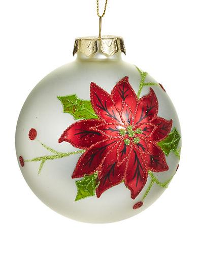 Glucksteinhome Aspen Charm Glitter Glass Ornament-MULTI-One Size