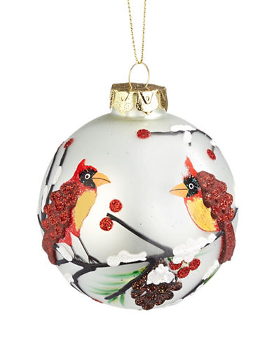 Glucksteinhome Aspen Charm Glitter Glass Ornament-MULTI-One Size