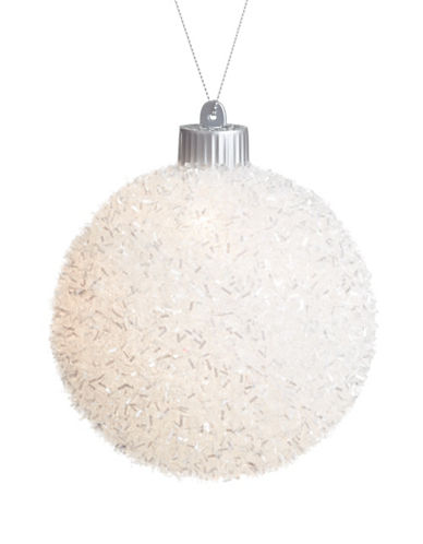 Glucksteinhome Noel Blanc LED Glass Ornament-WHITE-One Size