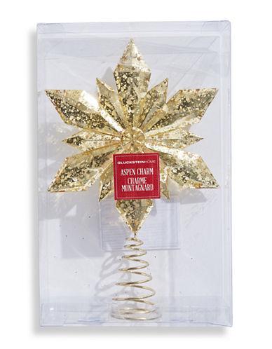Glucksteinhome Aspen Charm Champ Tree Topper-GOLD-One Size