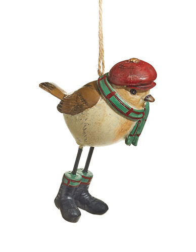 Christmas Street Winter Chalet Large Robin Ornament-MULTI-One Size