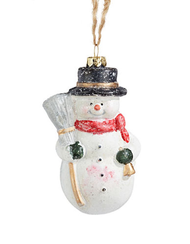 Christmas Street Winter Chalet Jolly Snowman Ornament-MULTI-One Size