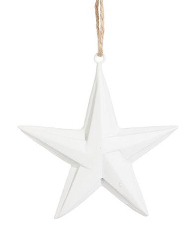 Glucksteinhome Aspen Charm Paper Fold Star Ornament-WHITE-One Size