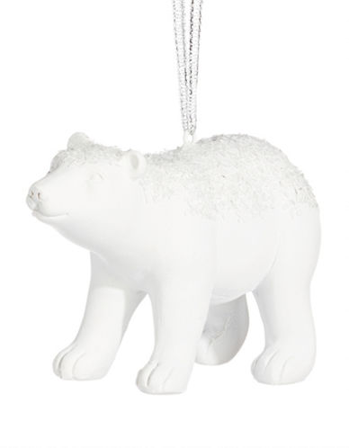 Glucksteinhome Noel Blanc Polar Bear Ornament-WHITE-One Size