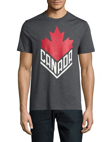 Canadian Olympic Team Collection Mens Canada Wordmark Core T-Shirt-CHARCOAL-Large
