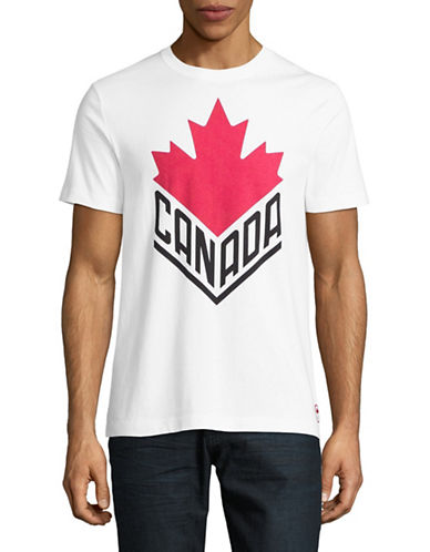 Canadian Olympic Team Collection Mens Canada Wordmark Core T-Shirt-WHITE-Medium