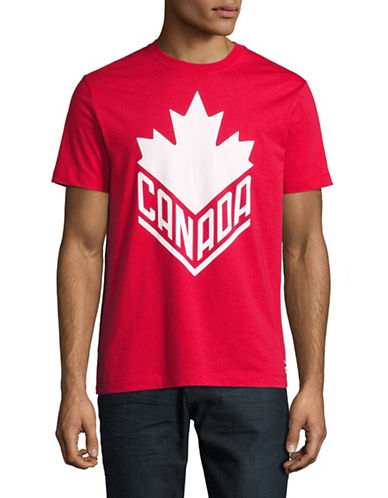Canadian Olympic Team Collection Mens Canada Wordmark Core T-Shirt-RED-Small