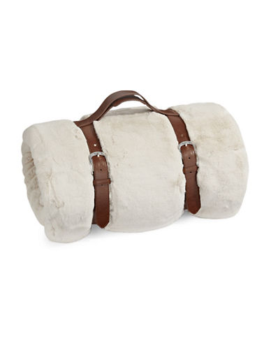 Glucksteinhome Faux Chinchilla Throw-WHITE-One Size