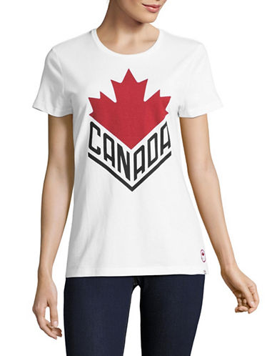 Canadian Olympic Team Collection Womens Canada Wordmark Core T-Shirt-WHITE-X-Large
