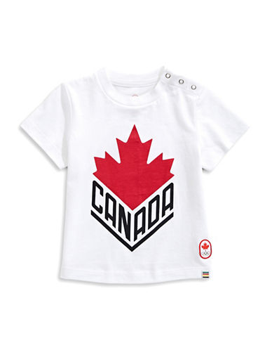 Canadian Olympic Team Collection Infant Canada Wordmark Core Tee-WHITE-0-6 Months