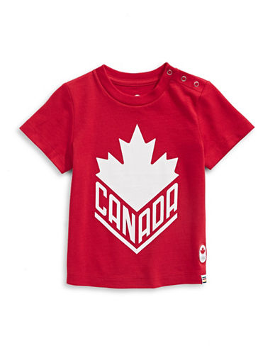 Canadian Olympic Team Collection Infant Canada Wordmark Core Tee-RED-12-18 Months