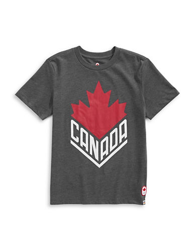 Canadian Olympic Team Collection Toddler Boys Canada Wordmark  Core Tee-CHARCOAL-5-6