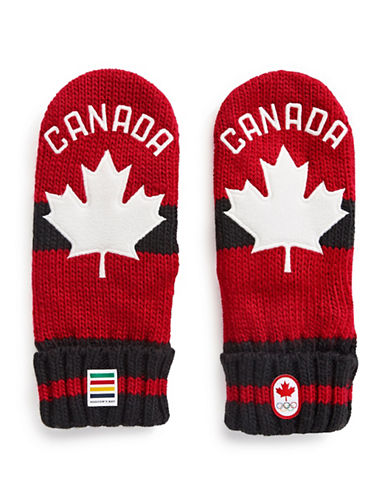 Canadian Olympic Team Collection Adult Red Mittens-RED-Large/X-Large