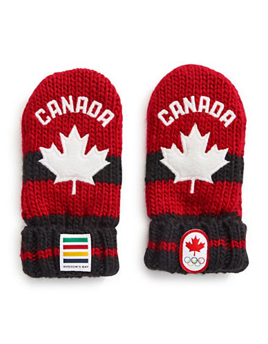 Canadian Olympic Team Collection Infant Red Mittens-RED-One Size